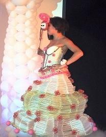 White Balloon Dress