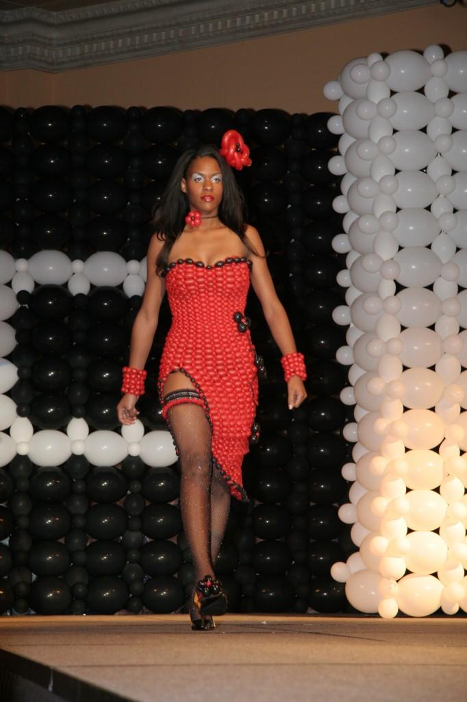 053be5601 Red Balloon Dress | Tawney Bubbles, Las Vegas Balloon Artist