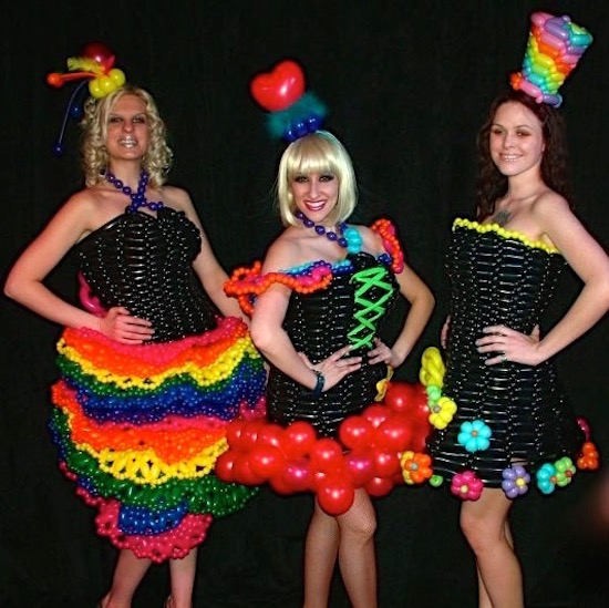 Las Vegas Wonderground Balloon Dresses
