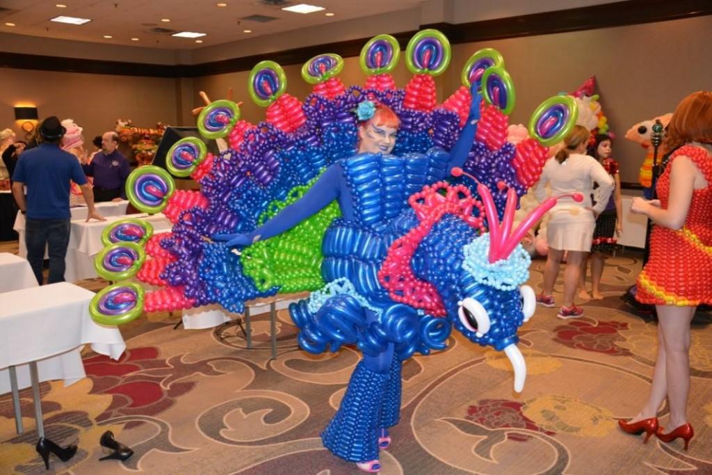 Unique Peacock balloon costume