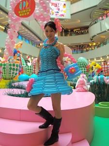 Blue Balloon Dress