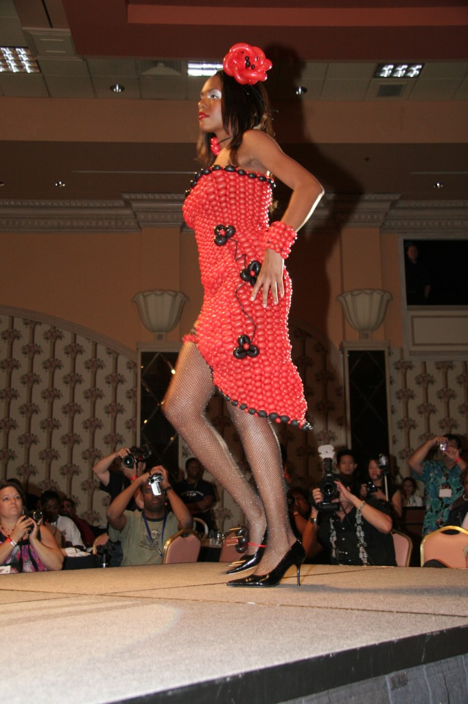Red Balloon Dress from the Side