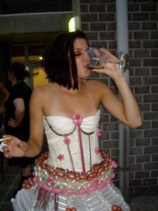Close Up of the Balloon Corset