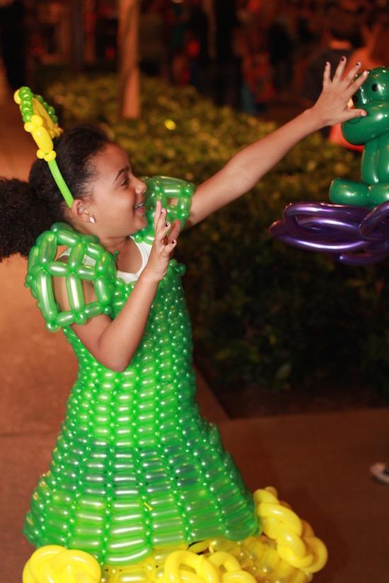 Children's balloon dresses