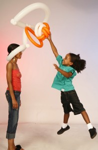 Balloon basket ball