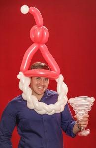 Small Balloon Santa Hat