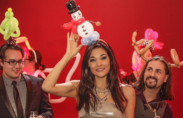 Small Balloon Snowman Fasinator