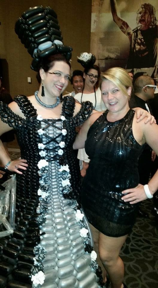 Balloon Dress AFAN Black and White Party 2015